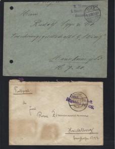 Tres cartas correo de campaña Alemania I Guerra Mundial Imperios Centrales - I Guerra Mundial.