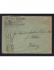 Carta Alemania I Guerra Mundial franqueo mecánico Imperios Centrales - I Guerra Mundial.