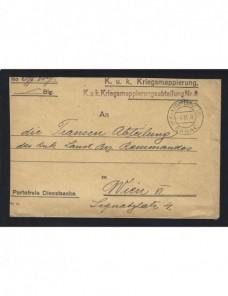 Carta de correo oficial militar Austria Hungría I Guerra Mundial Imperios Centrales - I Guerra Mundial.