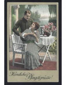 Tarjeta postal ilustrada Alemania I Guerra Mundial censura militar Imperios Centrales - I Guerra Mundial.