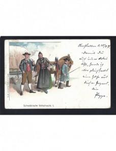 Tarjeta postal ilustrada Alemania Alemania - Siglo XIX.