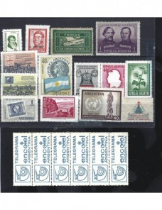 Sellos nuevos Argentina diversas series años 50 Otros Mundial - Desde 1950.