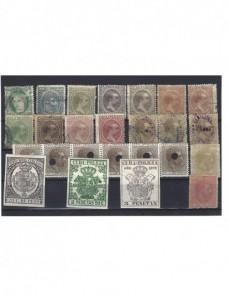 Lote de sellos España colonias ultramar Colonias y posesiones - Siglo XIX.