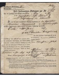 Tres documentos postales Alemania s. XVIII Alemania - Siglo XIX.