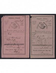 Siete resguardos postales de valores declarados Alemania Alemania - Siglo XIX.