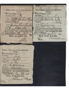 Tres documentos postales Alemania s. XIX Alemania - Siglo XIX.