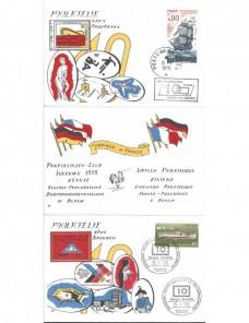 Documento filatélico Francia - Alemania exposición internacional Francia - Desde 1950.