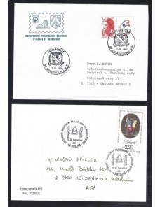 Tres sobres Francia matasellos especiales Francia - Desde 1950.