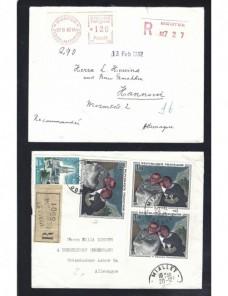 Tres cartas Francia certificado Francia - Desde 1950.