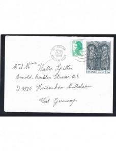 Carta Francia con viñeta exposición comercial Francia - Desde 1950.