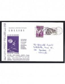 Nueve cartas Francia franqueos y matasellos variados Francia - Desde 1950.