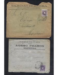 Diez cartas España correo comercial Alfonso XIII cadete España - 1900 a 1930.