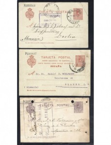 Seis tarjetas entero postales España Alfonso XIII España - 1900 a 1930.