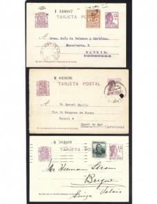 Seis tarjetas entero postales España II República España - 1931 a 1950.