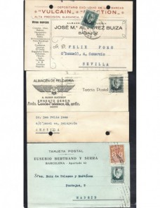 Seis tarjetas postales comerciales España II República España - 1931 a 1950.
