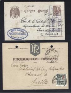 Cuatro tarjetas postales comerciales España España - 1931 a 1950.