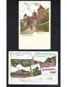Dos tarjetas postales ilustradas Alemania Alemania - Siglo XIX.