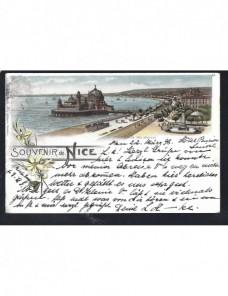Tarjeta postal ilustrada Francia Francia - Siglo XIX.