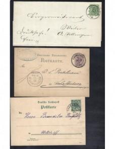 Tres piezas postales Alemania  Alemania - Siglo XIX.