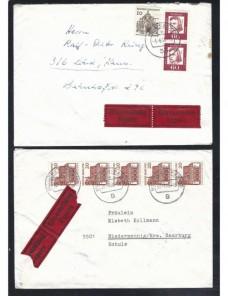 Dos cartas correo urgente Alemania matasellos ambulante ff.cc. Alemania - Desde 1950.