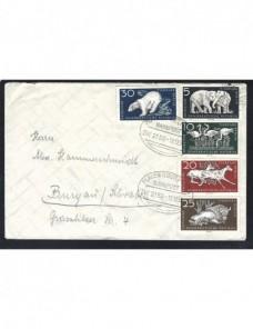 Carta Alemania Democrática matasellos ambulante ff.cc. Alemania - Desde 1950.
