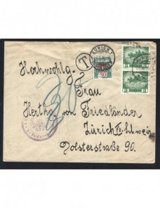 Carta Imperio Austrohúngaro I Guerra Mundial censura y tasa Imperios Centrales - I Guerra Mundial.
