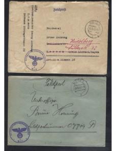 Tres cartas correo de campaña Alemania II Guerra Mundial Potencias del eje - II Guerra Mundial.