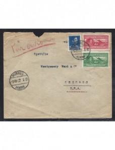 Carta correo aéreo Albania Otros Europa - 1931 a 1950.
