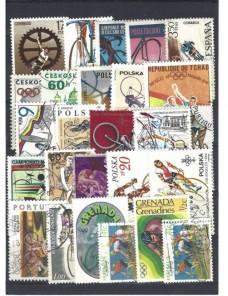 Lote temático. Tema ciclismo. Sellos de varios países en usado Sellos.