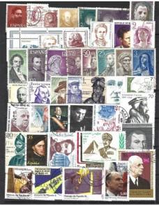 Lote temático. Tema personajes célebres. 77 sellos de varios países Sellos.