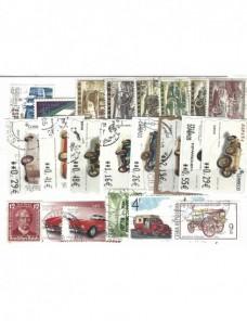 Lote temático. Tema automóvil. 22 sellos de varios países Sellos.