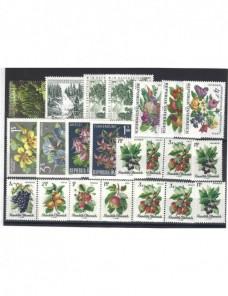 Lote temático. Tema flores y árboles. Sellos de Austria nuevos Sellos.