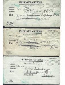Seis cartas prisioneros de guerra Estados Unidos II G.M. censura  Prisioneros de guerra - II Guerra Mundial.