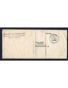 Carta Oficial Gobierno militar aliado en Nuremberg II Guerra Mundial Bando Aliado - II Guerra Mundial.