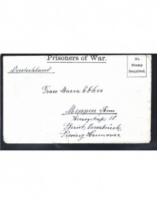 Carta prisioneros I Guerra Mundial Gran Bretaña censura Prisioneros de guerra - I Guerra Mundial.