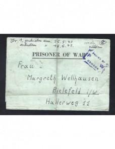 Carta prisionero II Guerra Mundial Estado Unidos censura Prisioneros de guerra - II Guerra Mundial.