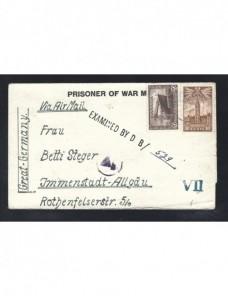 Carta prisionero II Guerra Mundial Canadá censura doble Prisioneros de guerra - II Guerra Mundial.