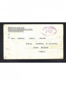Carta prisionero II Guerra Mundial Italia censura Prisioneros de guerra - II Guerra Mundial.