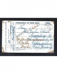 Tarjeta prisioneros II Guerra Mundial Canadá censura Prisioneros de guerra - II Guerra Mundial.