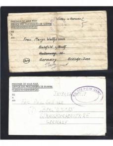 Tres cartas prisioneros II Guerra Mundial Gran Bretaña censura Prisioneros de guerra - II Guerra Mundial.
