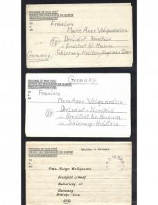Cinco cartas prisioneros II Guerra Mundial Gran Bretaña  Prisioneros de guerra - II Guerra Mundial.