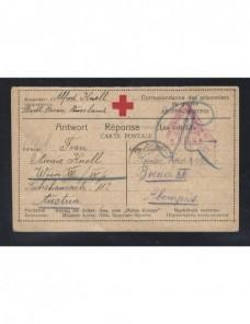 Tarjeta Cruz Roja prisioneros de guerra Rusia I Guerra Mundial censura Prisioneros de guerra - I Guerra Mundial.