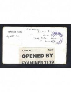 Carta prisionero II Guerra Mundial Gran Bretaña censura triple Prisioneros de guerra - II Guerra Mundial.