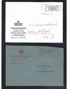Cuatro cartas Alemania prisioneros de guerra organizaciones varias Alemania - Desde 1950.