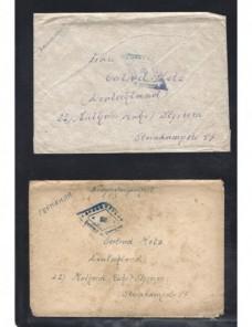 Dos cartas prisioneros de II Guerra Mundial URSS censura Prisioneros de guerra - II Guerra Mundial.