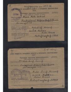 Dos tarjetas prisioneros de II Guerra Mundial URSS censura doble Prisioneros de guerra - II Guerra Mundial.