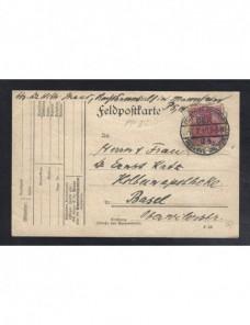 Tarjeta postal correo de campaña Alemania I Guerra Mundial Imperios Centrales - I Guerra Mundial.