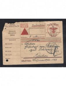 Resguadro postal contra reembolso militar Alemania II Guerra Mundial Potencias del eje - II Guerra Mundial.