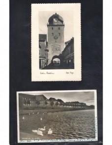 Dos tarjetas postales ilustradas Alemania II Guerra Mundial Potencias del eje - II Guerra Mundial.