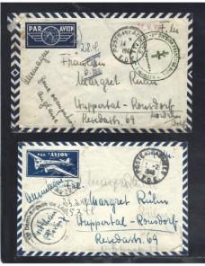 Tres cartas correo de campaña Francia II Guerra Mundial Bando Aliado - II Guerra Mundial.